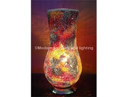 Vase Table Lamp Red Crackle Glass Mosaic Vase Table Lamp Modern Furniture And
