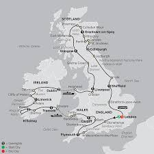 York England Map Britain Discounted Tours By Cosmos