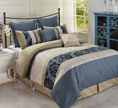 total fab earth u0026 sky blue and beige comforters u0026 bedding sets
