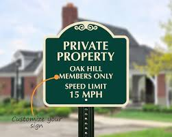 Speed Limit In Blind Intersection Designer Private Community Speed Limit Signs Myparkingsign