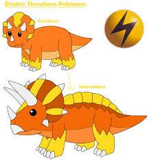 electric threehorn pokemon by mcsaurus on deviantart