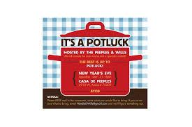 magnificent potluck invitation template free