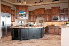 classy rustic country kitchen design with wooden panels base and