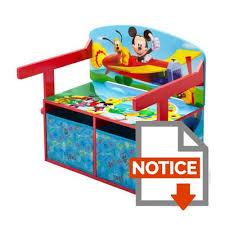 bureau enfant mickey mickey bureau banc enfant convertible avec rangements achat