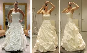 in wedding dress sle wedding dresses versus the real deal