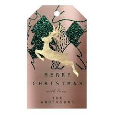 merry to golden snowman pink blush gift tags