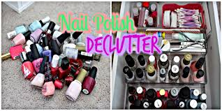 nail polish declutter youtube