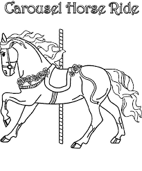 carousel horse ride colouring page happy colouring