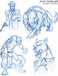 werewolf sketches by jason seabaugh artwanted com