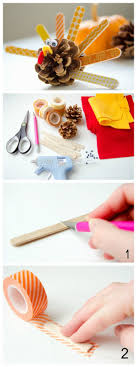 washi pinecone turkeys tutorial pinecone turkey pinecone and