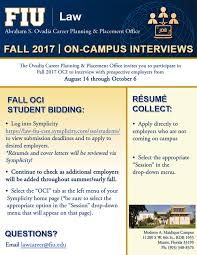 Fiu Resume Fall 2017 Oci Student Bidding Opens U2013 Blog Fiu Law Ovadia Cp U0026p Office