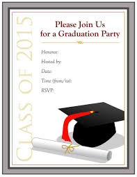 printable invitation templates 40 free graduation invitation templates template lab