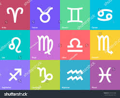 set zodiac symbol icons on color stock vector 231315568 shutterstock