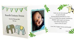 baby thank you cards ten personalised baby photo thank you cards by ten and sixpence