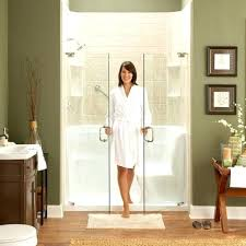 showers inspiring corner shower with seat home depot walk in small