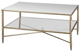 french brass and glass mid century modern display coffee table for