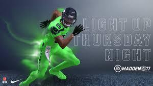 seahawks light up sign ea sports madden nfl on twitter light up tnf 2016 nike