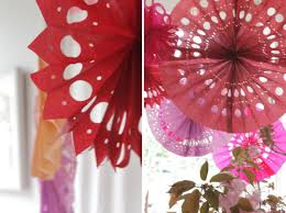tissue paper fans punched tissue paper fans diy