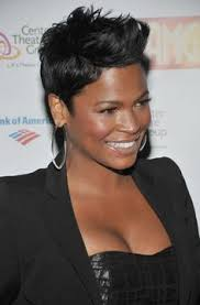 shortcuts for black women with thin hair nia long tousled side parted pixie cut african american