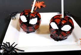 how to make spiderman candy apples halloween treats youtube