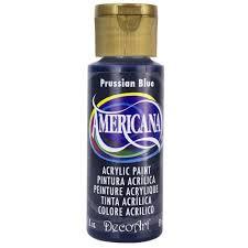 decoart americana 2 oz prussian blue acrylic paint da138 3 the