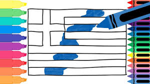 how to draw greece flag drawing the greek flag coloring pages