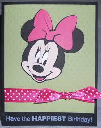 karlee krafts a minnie mouse birthday card