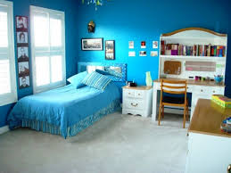 bedroom ideas marvelous blue wall white bed frame on the