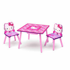 Outdoor Childrens Table And Chairs Hello Kitty Table And Chair Set With Storage Walmart Com