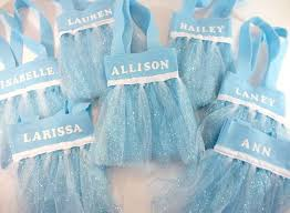 tulle bags disney frozen elsa party favor bags two