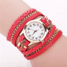 leather wrap bracelet watches images Retro vintage women gold dial dress watches leather strap quartz jpg