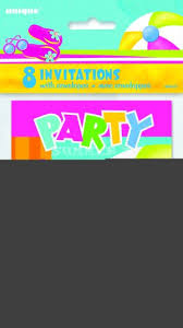 pool party invitations pool party invitations 8ct wally s party factory