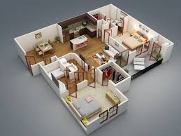 bedrooms apartment house plan for young professional modern 2