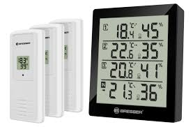 bresser temeo hygro quadro thermo and hygrometer with 4