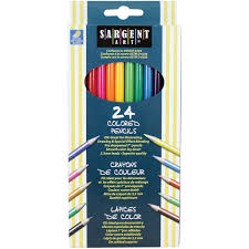 special pencils for drawing sargent 22 7224 24 count assorted colored pencils