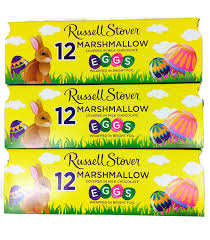 amazon com russell stover marshmallow egg crate 9 oz crate 12
