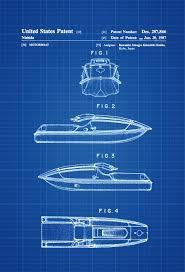 kawasaki jet ski patent patent print wall decor beach house