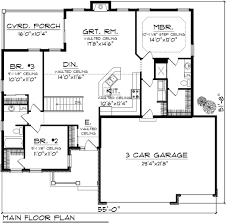 ranch style house plan 3 beds 2 baths 1501 sq ft plan 70 1131