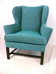 sensational turquoise wingback chair with additional home