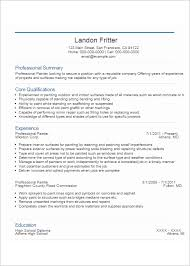 Painter Resume Sample by Professional Resume Template Free U0026 Premium Templates