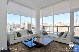 electric somfy rts solar shades living room tempo 300 east 23rd