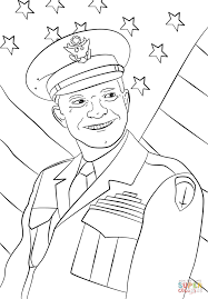 general dwight eisenhower coloring page free printable coloring