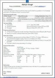 sle resume format for freshers lovely stock of resume format for freshers engineers