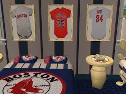 Boston Red Sox Home Decor Mod The Sims Boston Red Sox Bedroom Requested By Hockeyyrulez