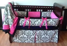 Pink And Black Crib Bedding Sets Modern Bedroom With Black Pink Crib Bedding With Ribbon Pink