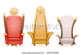 Cartoon Armchair Royal Throne King Ruler Fairytale Armchair Stock Vector 646755466