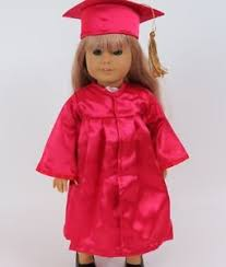pink cap and gown graduation cap gown dress set clothes for 18 inch doll clothes