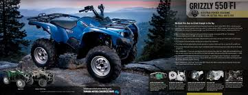 2010 yamaha atv grizzly 125 350 450 550 700 big bear 400 brochure