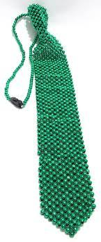 green mardi gras green bead tie mardi gras new orleans party