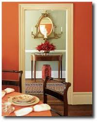 decorating in orange color red living rooms and room